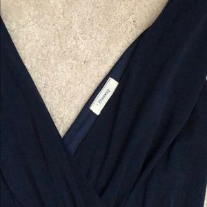 Freeway Other - Navy blue surplice jumpsuit with POCKETS